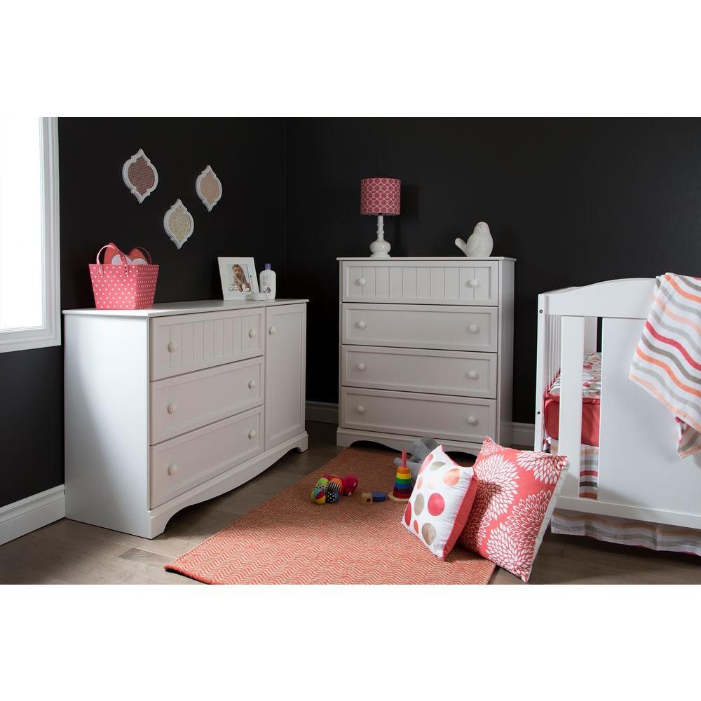 South Shore Savannah 3 Drawer Pure White Dresser 3580028 The Home Depot