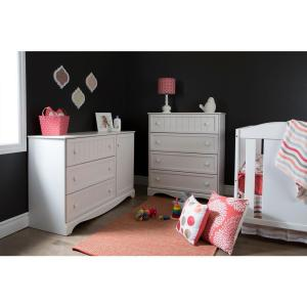 Savannah 3-Drawer Pure White Dresser