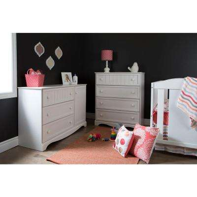Savannah 3-Drawer Pure White Dresser