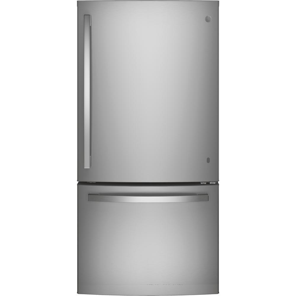 24.8 cu. ft. Bottom Freezer Refrigerator in Stainless Steel, ENERGY STAR