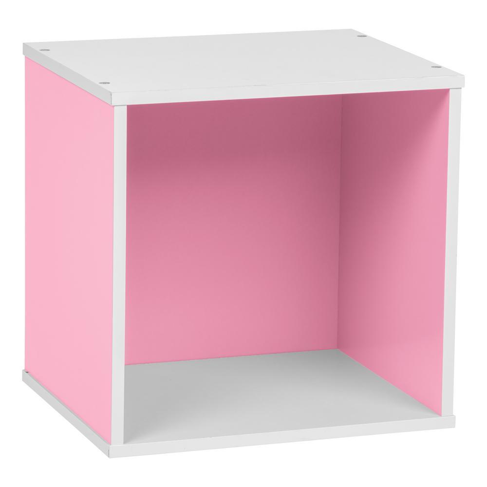 BAKU Pink Modular Wood Cube Box