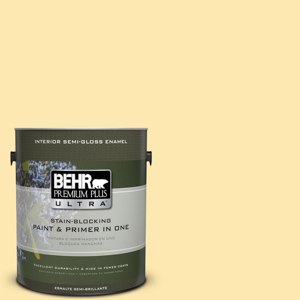 BEHR Premium Plus Ultra 1-gal. #P280-2 Gold Thread Semi-Gloss Enamel Interior Paint