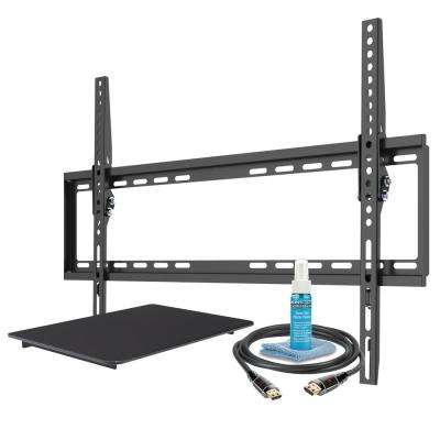 Large Tilt Mount Bracket with DVD Shelf for 42 in. to 75 in. TVs up to 75 lbs.