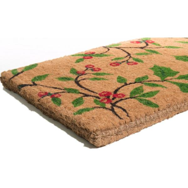 Imports Decor Traditional Coir Holly Princess 30 In X 18 In Natural Coconut Husk Door Mat 685tcm The Home Depot