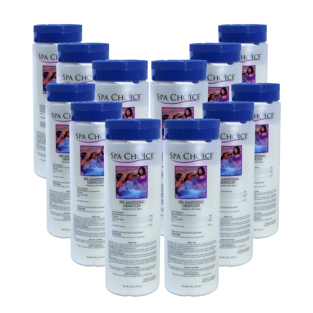 Spa and Hot Tub 2 lb. Sanitizing Granules (12-Pack)