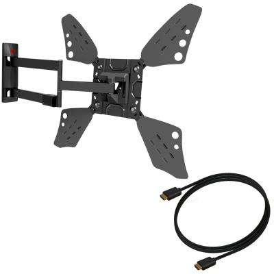 Barkan 40 in. - 70 in. Extremely Extendable Full Motion TV Wall Mount Up to 88 lbs. UL Certified with 4K HDMI Cable
