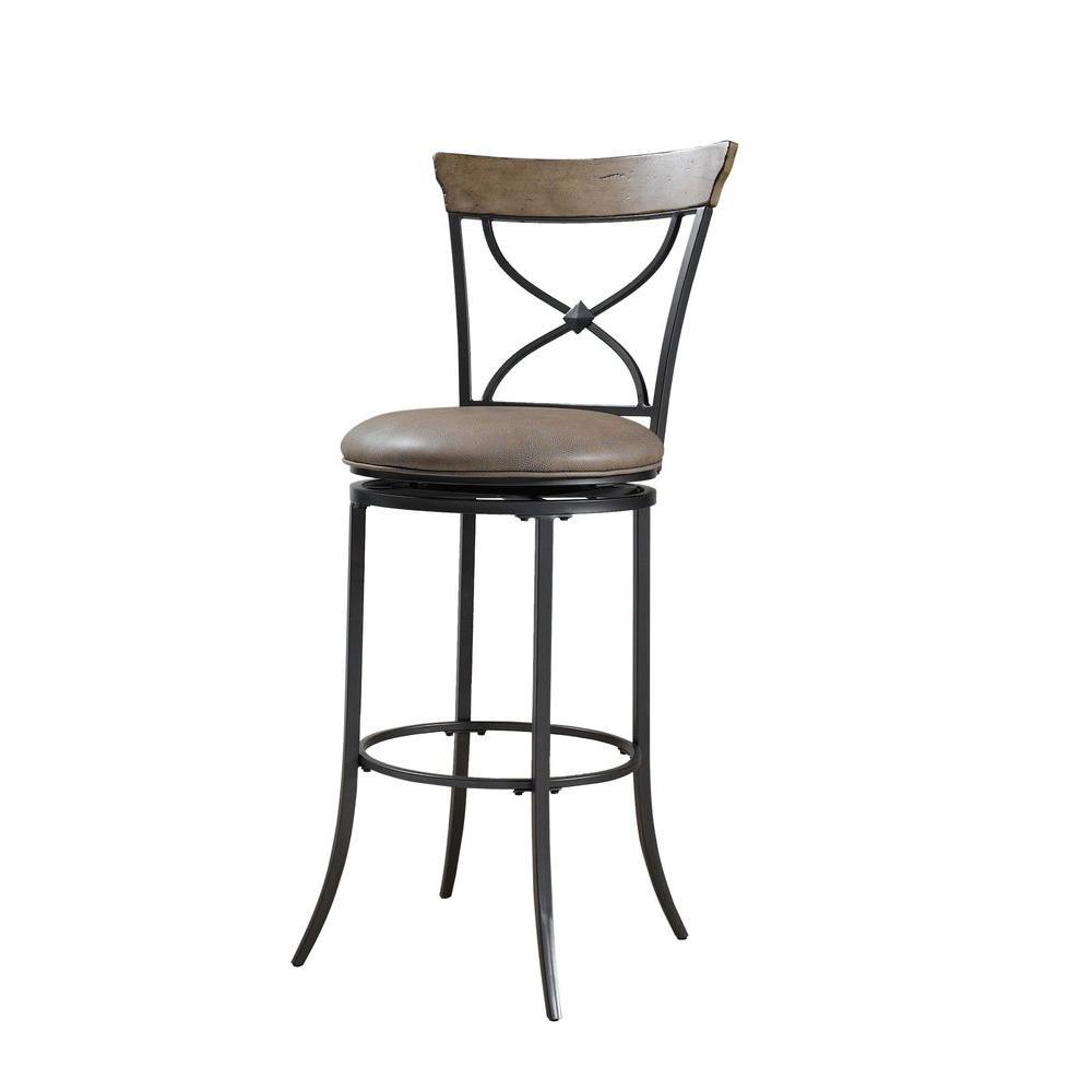 Hillsdale Furniture Charleston Swivel Ladder Back Counter Stool