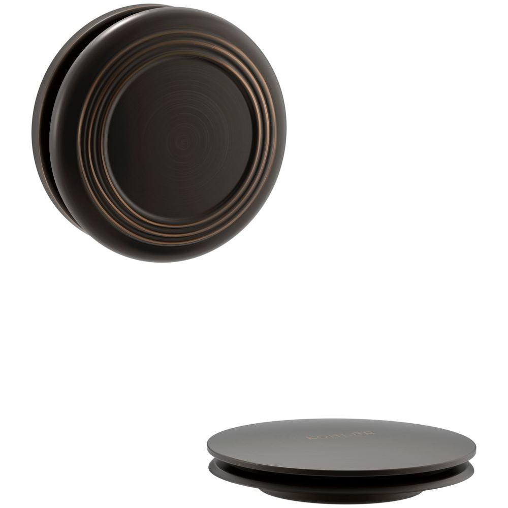 KOHLER PureFlo 2-13/16 in. H Traditional Push Button Bath Drain Trim in Oil-Rubbed Bronze