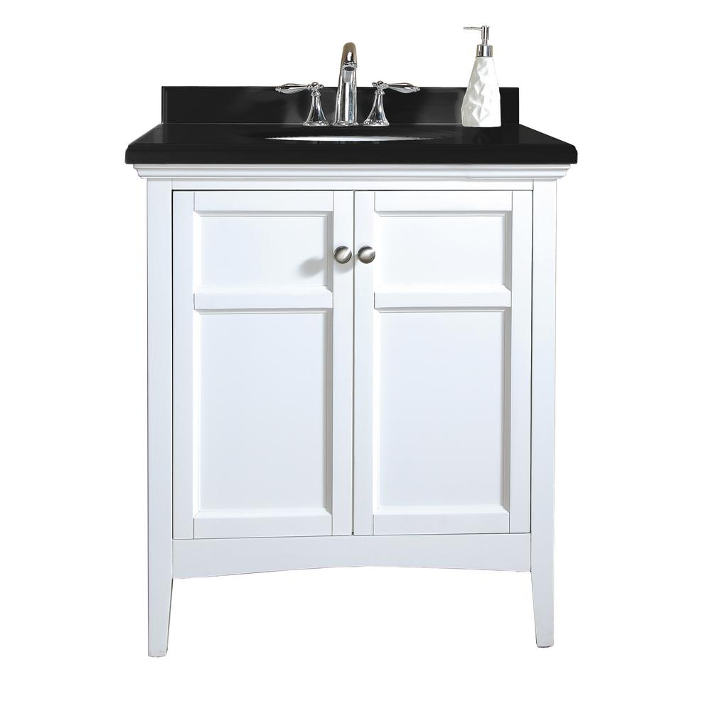 Vanity With Granite Top : Ove decors campo in vanity white lacquer with