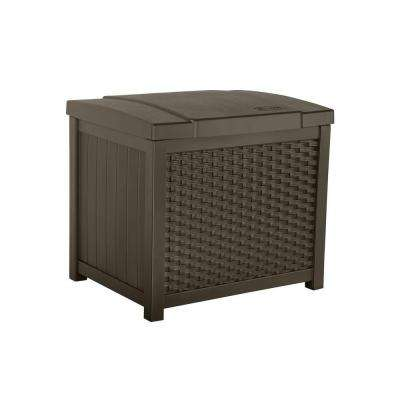 Wicker 22 Gal. Resin Storage Deck Box