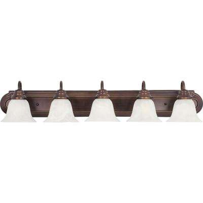 Essentials 5-Light Oil Rubbed Bronze Bath Vanity