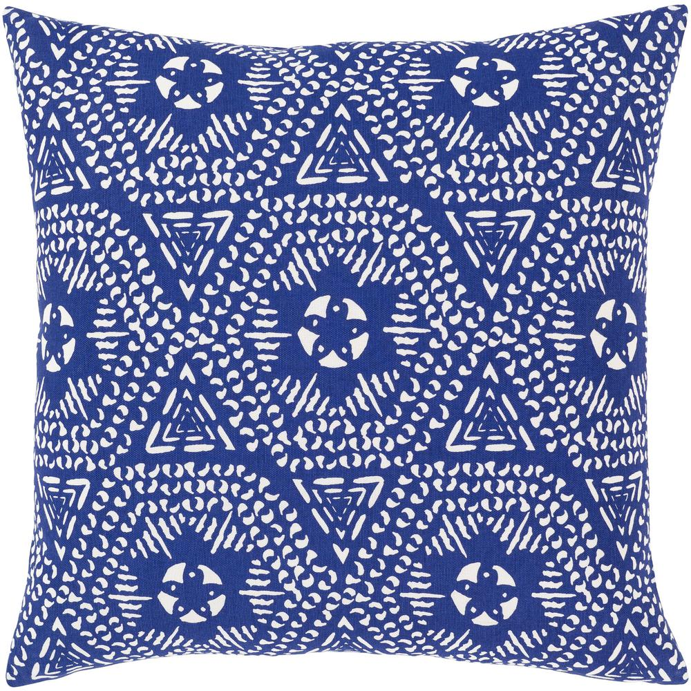 Artistic Weavers Abbacchio 18 In X 18 In Blue Graphic Polyester Standard Throw Pillow S00161017268 The Home Depot