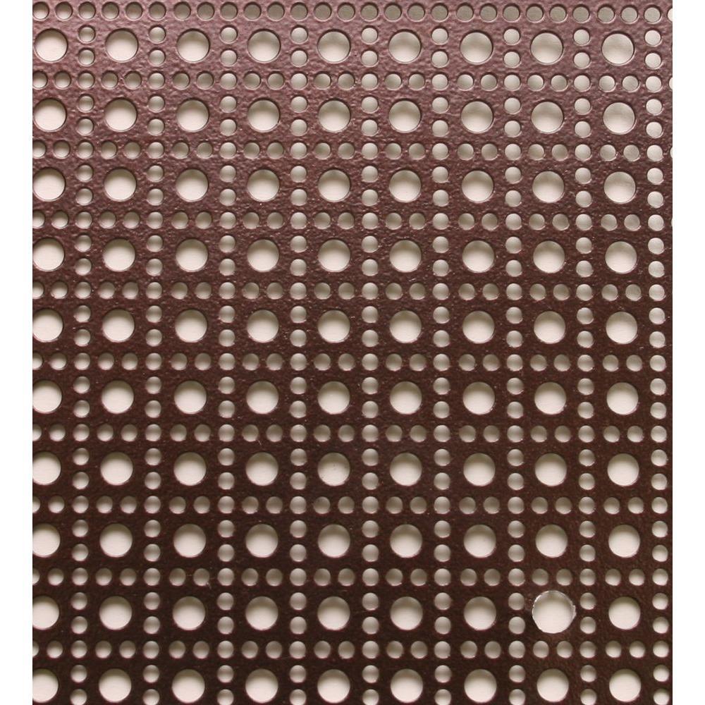 3 ft. x 3 ft. Aluminum Venetian Bronze Lincane Sheet