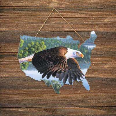 """Soar on Wings Like Eagles"" by Kim Norlien Wood Wall Art"