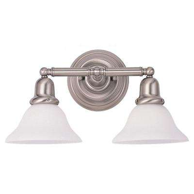 Sussex 2-Light Brushed Nickel Vanity Fixture