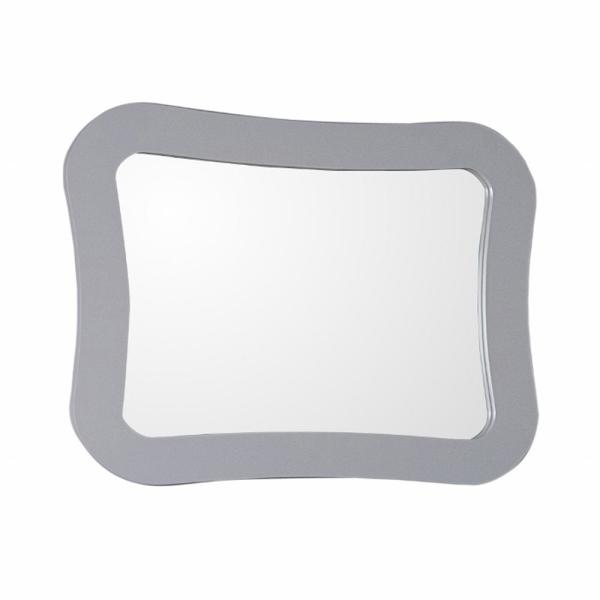 Teramo 28 in. x 22 in. Light Gray Framed Wall Mirror