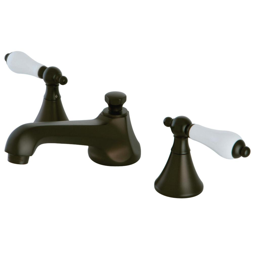 Kingston Brass Modern 8 In. Widespread 2-Handle Bathroom Faucet In Oil Rubbed Bronze-HKS4475PL