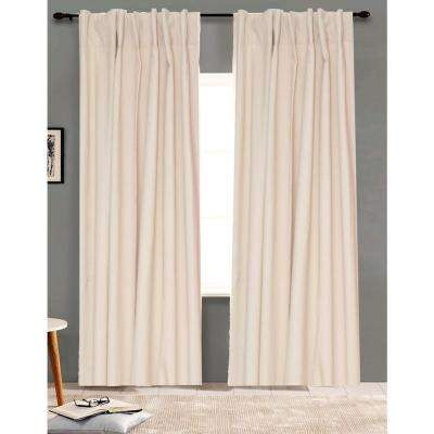 96 in. L Ivory Curtain Panel