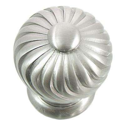 1.25 in. Satin Nickel French Twist Knob