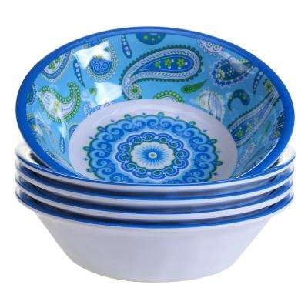 Boho 6-Piece Blue Bowl Set