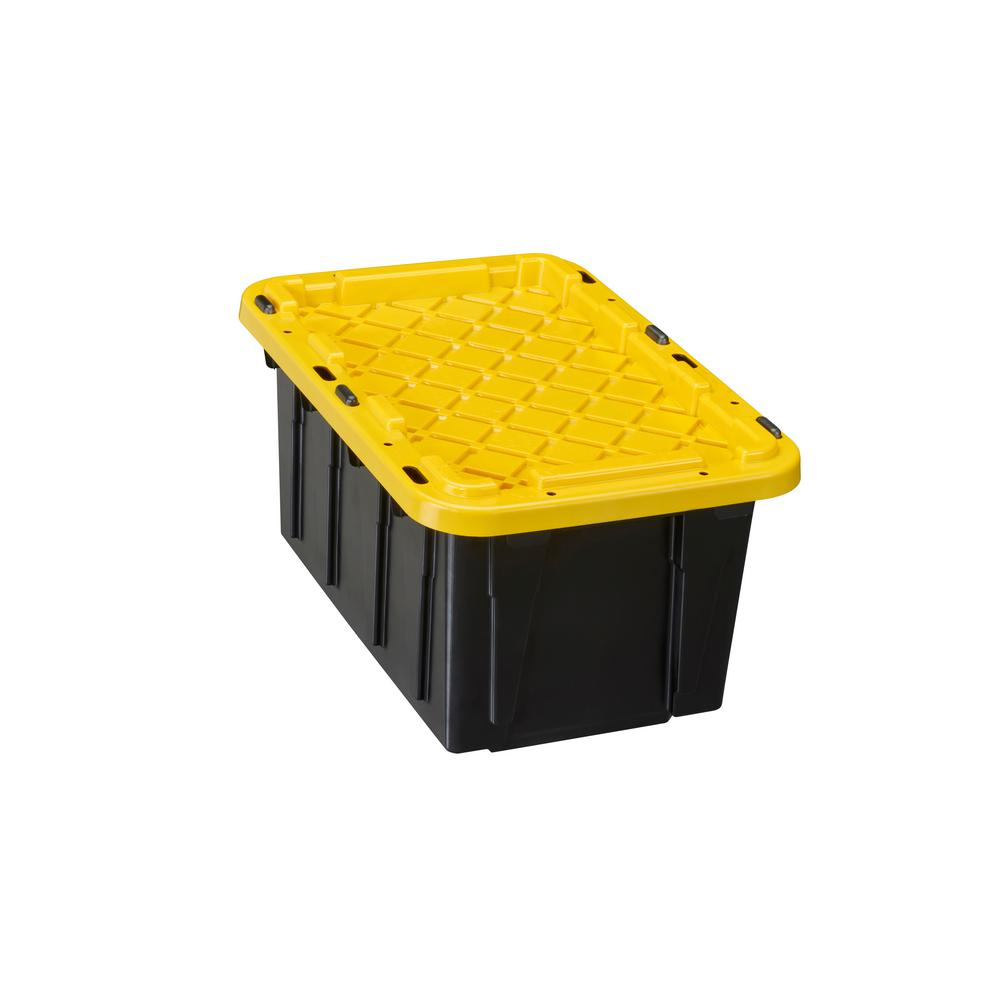 HDX 7 Gal. Tough Storage Bin in Black