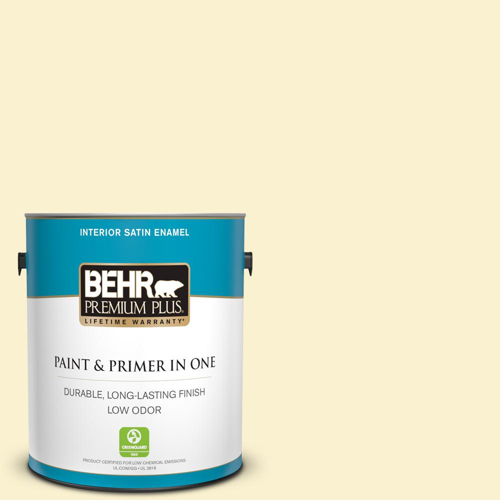BEHR Premium Plus 1 Gal. #P280-1 Summer Bliss Satin Enamel