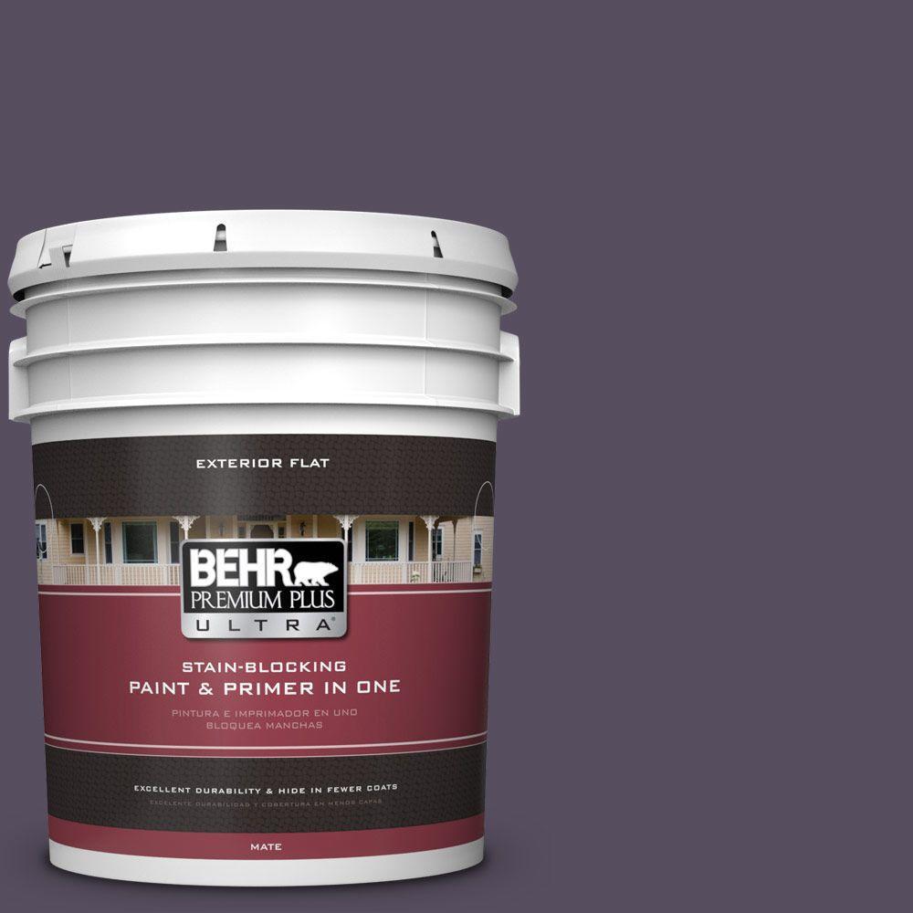 BEHR Premium Plus Ultra 5-gal. #660F-7 Napa Grape Flat Exterior Paint