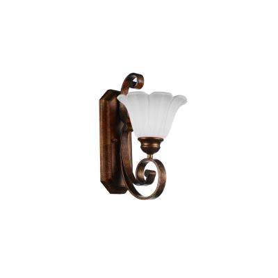 Victorian 1-Light Antique Gold Sconce