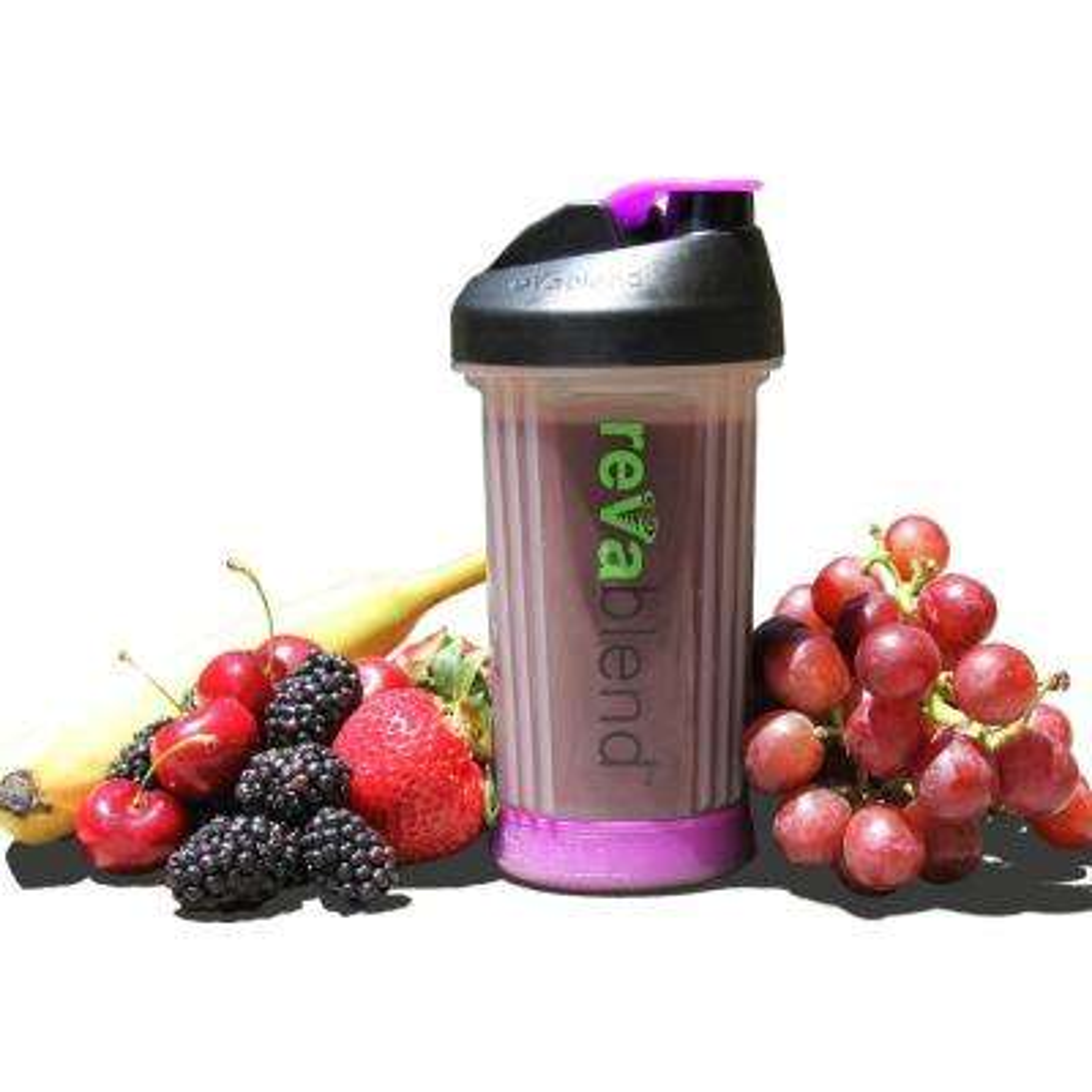 BPA Free Polypropylene 16 oz. Purple Hand Powered Blender Bottle