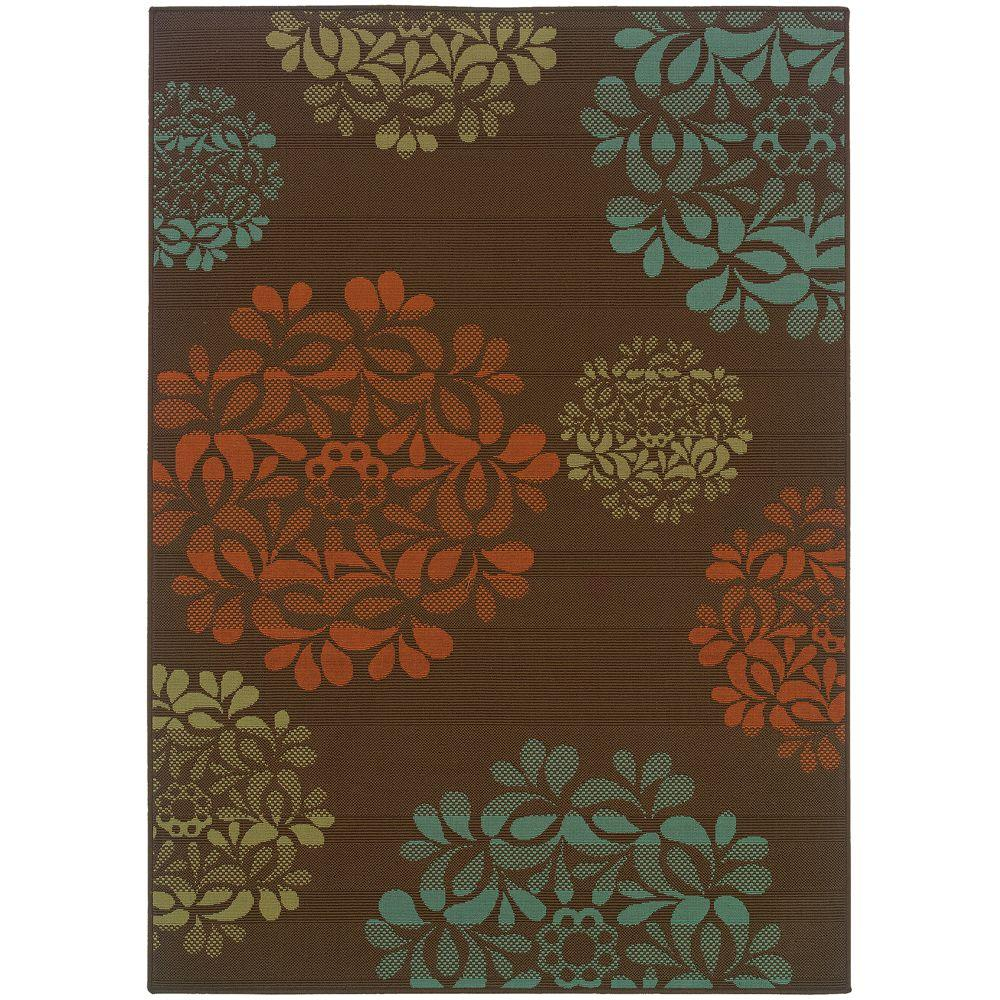 Hilo Brown 5 ft. 3 in. x 7 ft. 6 in.