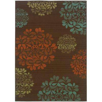 Hilo Brown 8 ft. x 11 ft. Area Rug