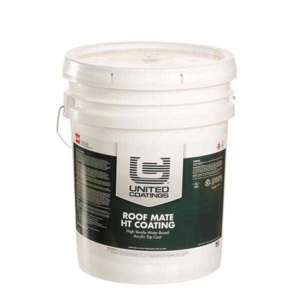 RoofMate HT Top Coat 5 Gal. White High Tensile Acrylic Reflective Elastomeric Roof Coating (15-Year Limited Warranty)