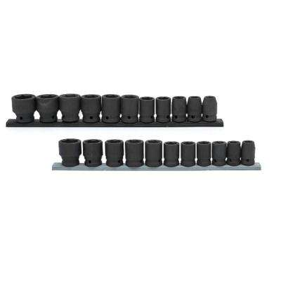 1/2 in. Drive Standard SAE/MM Socket Set (22-Piece)