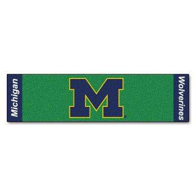 NCAA University of Michigan 1 ft. 6 in. x 6 ft. Indoor 1-Hole Golf Practice Putting Green