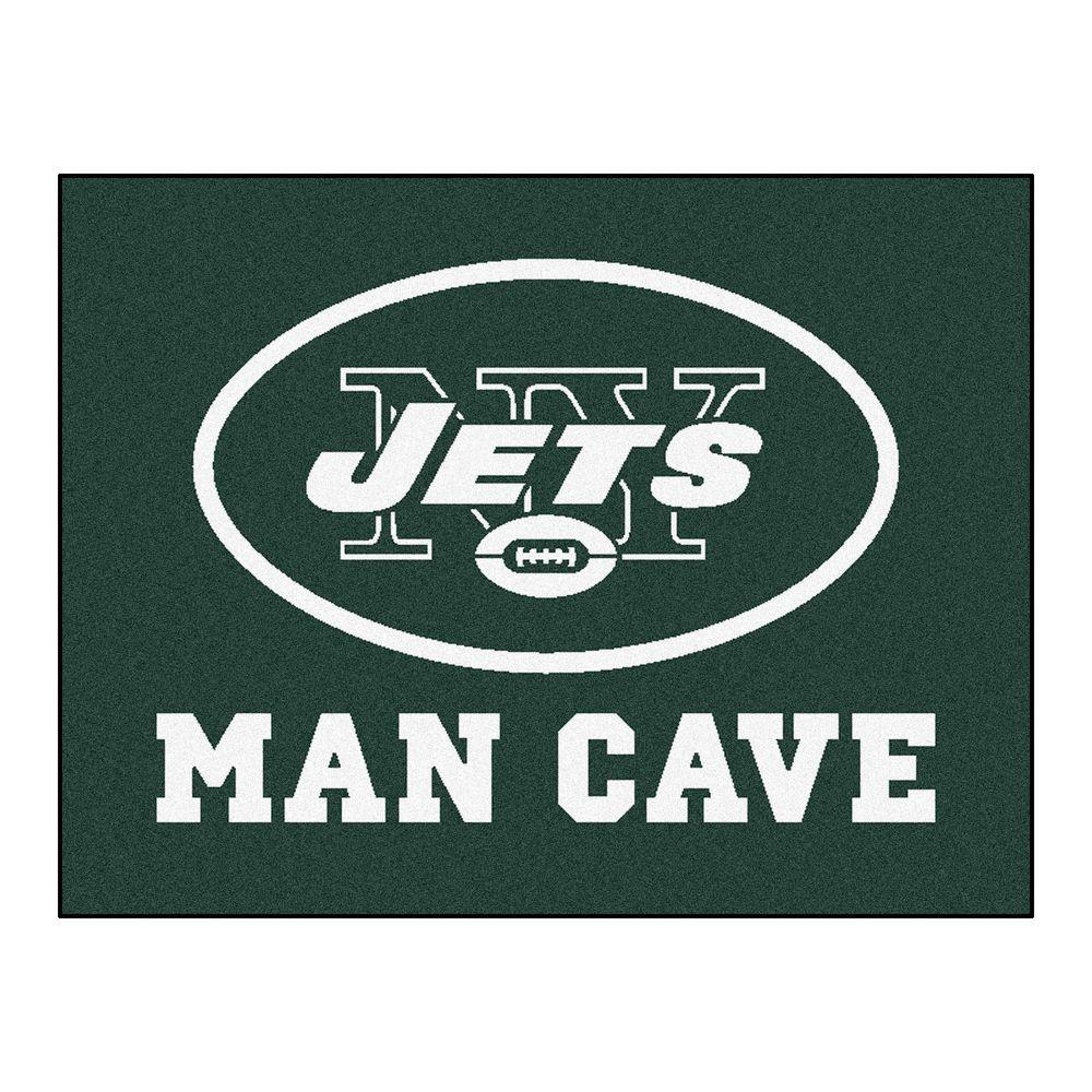 Fanmats New York Jets Green Man Cave 3 Ft X 4 Ft Area