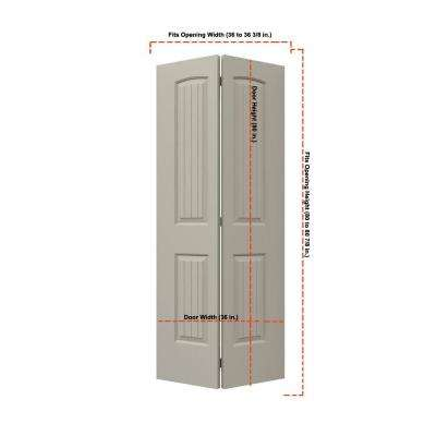 36 in. x 80 in. Santa Fe Desert Sand Painted Smooth Molded Composite MDF Closet Bi-fold Door