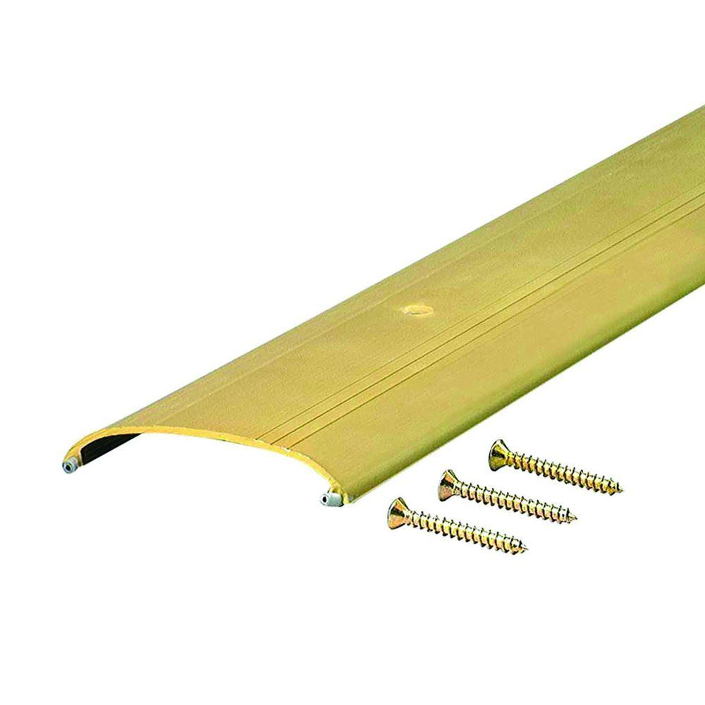 Low Dome Top 3-1/2 in. x 44-1/2 in. Gold Aluminum Saddle Threshold, Brite Gold
