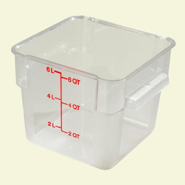 Superieur Polycarbonate Square Food Storage Container In Clear, Lid Not Included (