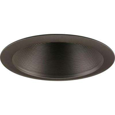 6 in. Antique Bronze Recessed Baffle Trim