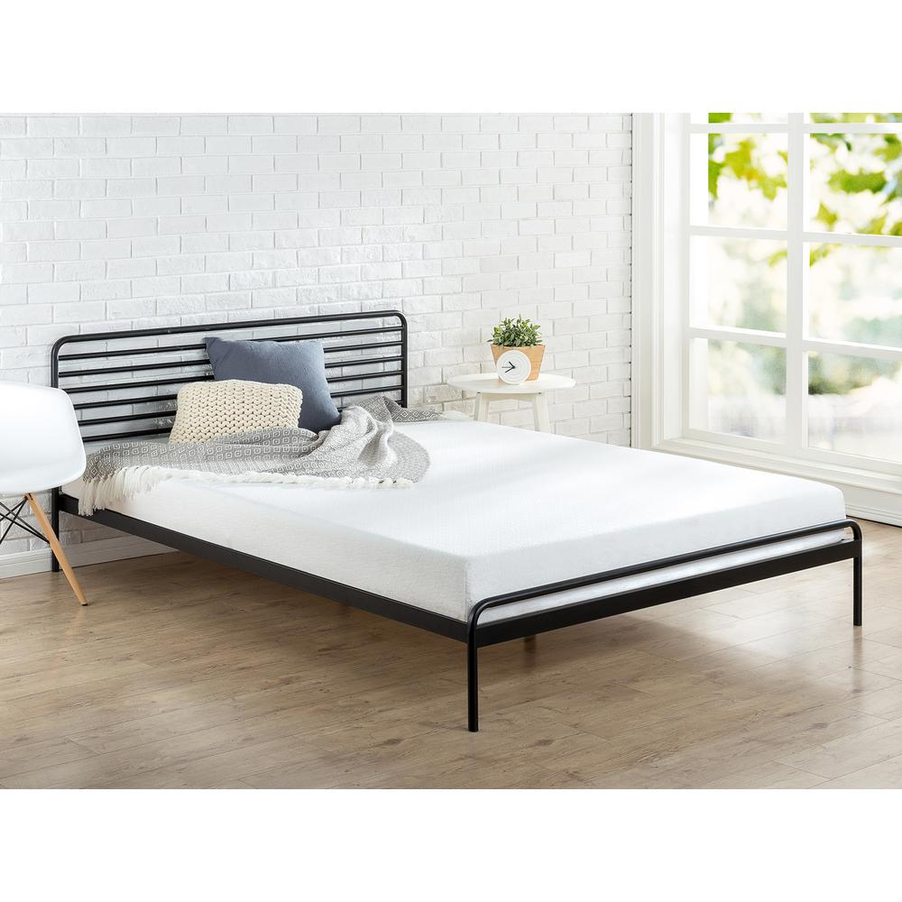zinus sonnet metal black king platform bed frame