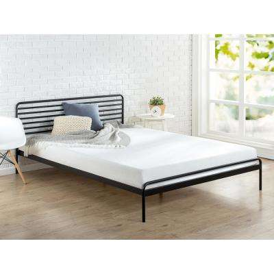 Sonnet Metal Black King Platform Bed Frame