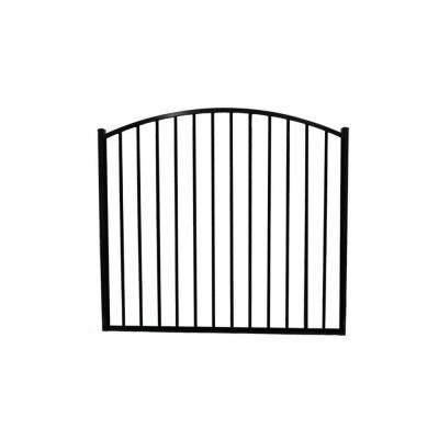 Newtown 5 ft. W x 4 ft. H Black Aluminum Arched Fence Gate
