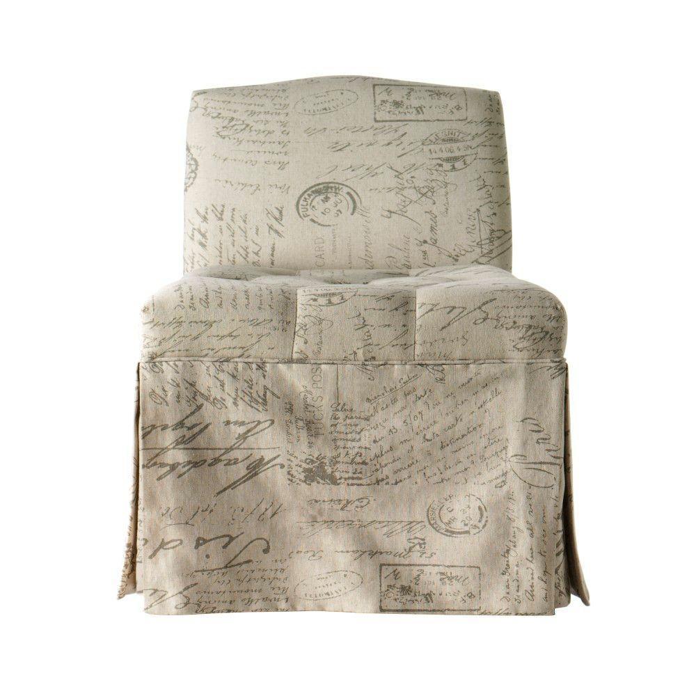 Home Decorators Collection Jordan 19 in. W Script Vanity Stool