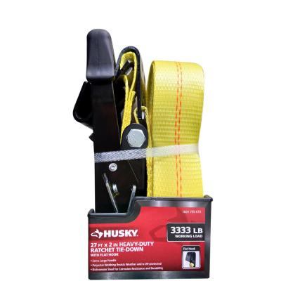 2 in. x 27 ft. Heavy-Duty Ratchet Tie-Down with Flat Hooks