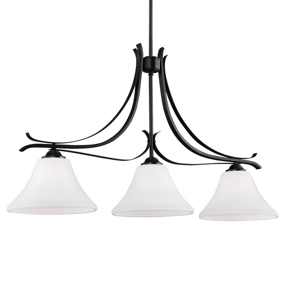 Summerdale 3-Light Oil Rubbed Bronze Chandelier with Opal Etched Glass Shade