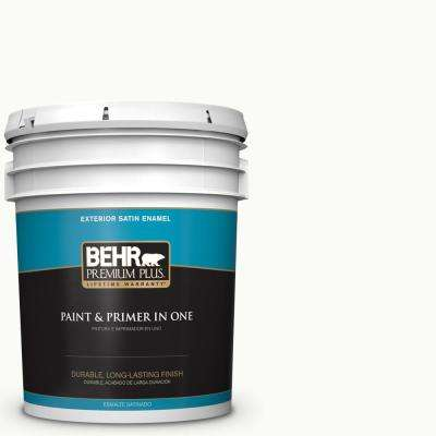 5 gal. #PPU18-06 Ultra Pure White Satin Enamel Exterior Paint and Primer in One