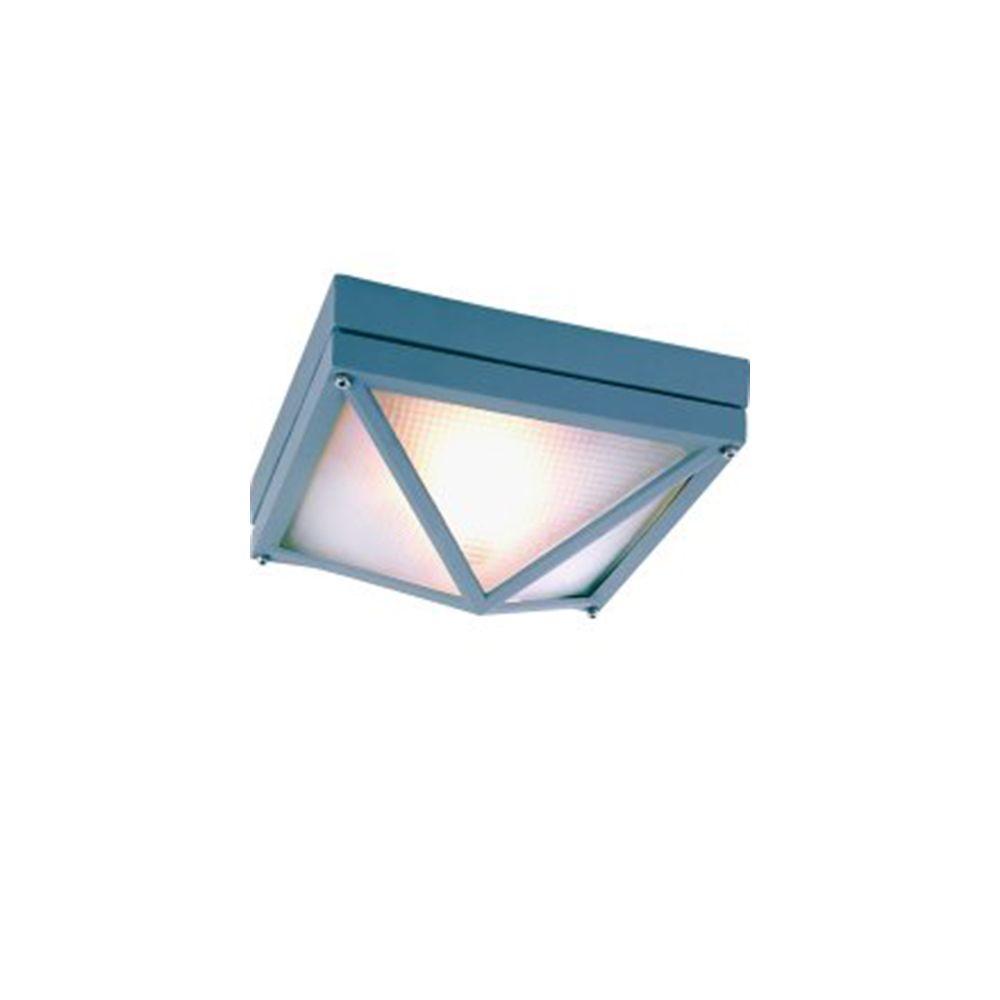 Bel Air Lighting Stewart 1-Light Outdoor Gray Incandescent Flush Mount