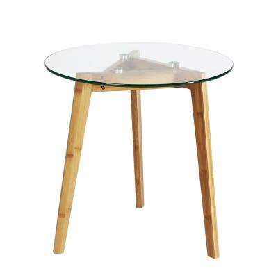 Costanoa Clear Natural Gl Side Table