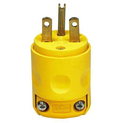 15 Amp 250-Volt Grounding Plug, Yellow