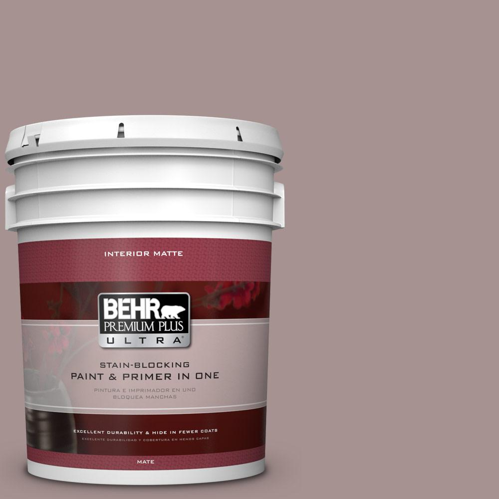 5 gal. #740B-4 Suede Leather Flat/Matte Interior Paint